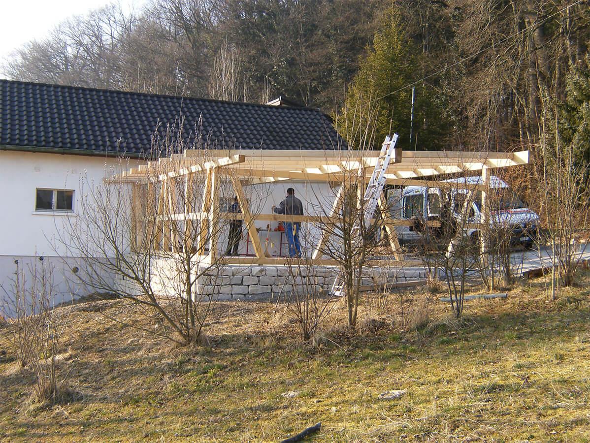 Gartenhausbau